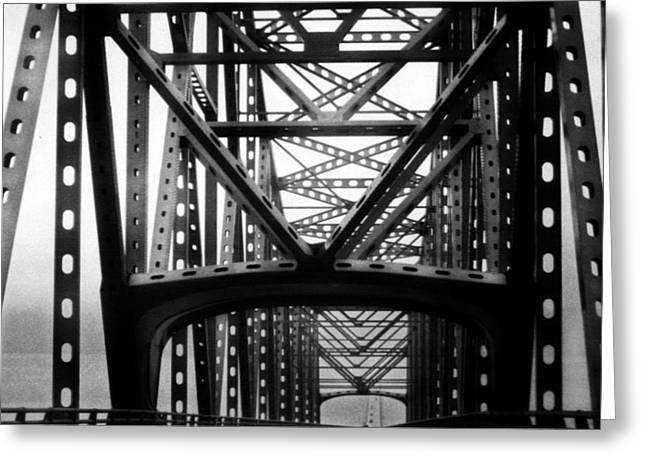 Greeting Card featuring the photograph Astoria Bridge by Tarey Potter
