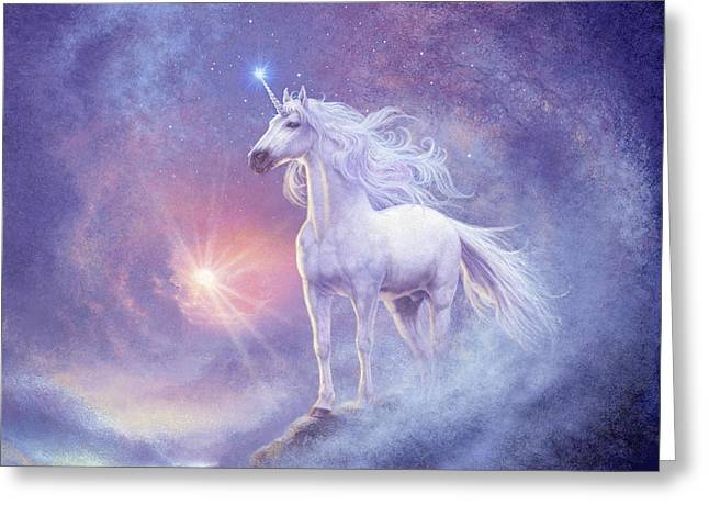 Astral Unicorn Greeting Card by Steve Read