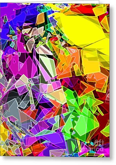 Greeting Card featuring the digital art Astratto - Abstract 51 by Ze  Di
