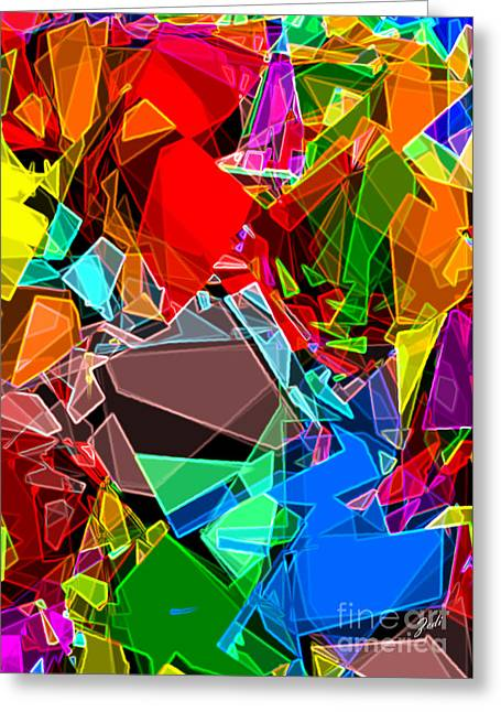 Greeting Card featuring the digital art Astratto - Abstract 52 by Ze  Di