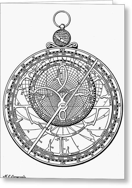 Astrolabe, 1574 Greeting Card