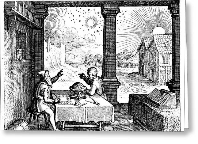 Astrologers Preparing A Horoscope Greeting Card by Universal History Archive/uig