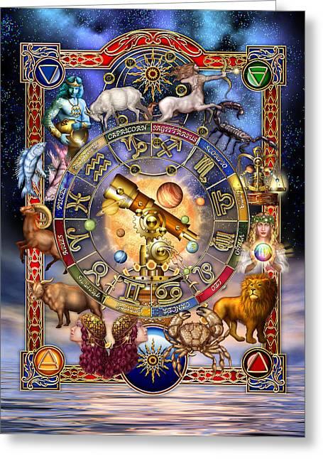 Astrology Greeting Card by Ciro Marchetti