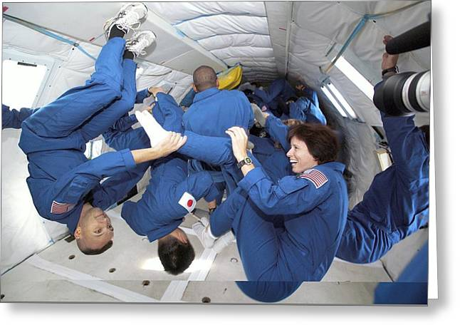 Astronaut Students Training In Free-fall Greeting Card by Science Photo Library