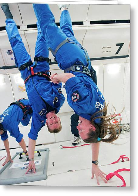 Astronauts Training In Free-fall Greeting Card by Esa - A. Le Floc'h