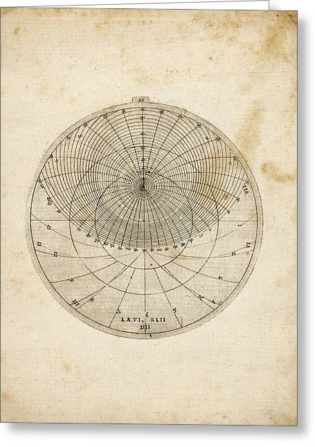 Astronomical Chart Greeting Card by Rare Book Division/new York Public Library