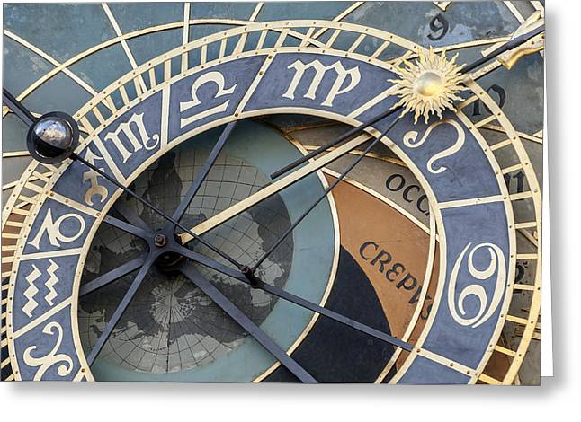 Astronomical Clockof Prague. Greeting Card by Fernando Barozza