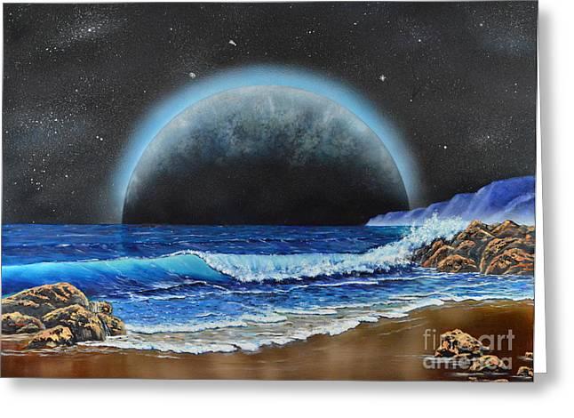 Astronomical Ocean Greeting Card