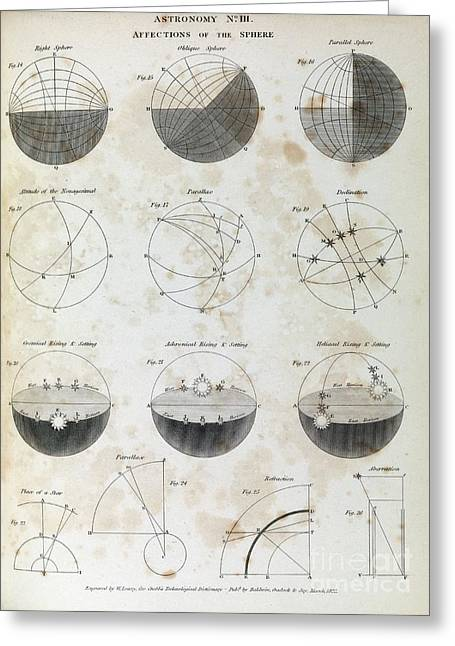 Astronomy Diagrams, 1823 Greeting Card by Middle Temple Library