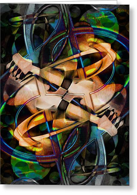 Asturias In G Minor Abstract Greeting Card