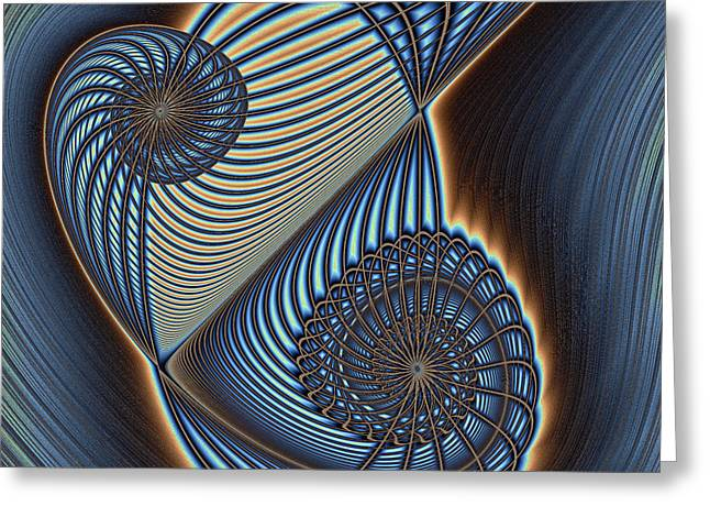 Asymmetric Wire Bow Spiral Greeting Card by Mark Eggleston