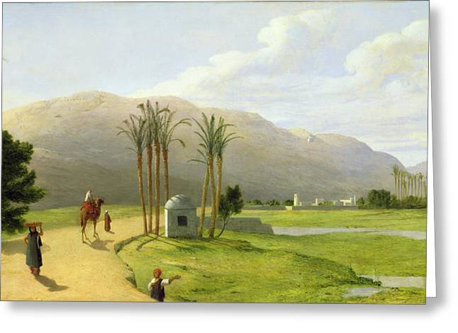 Asyut On The Nile, 1873 Oil On Canvas Greeting Card