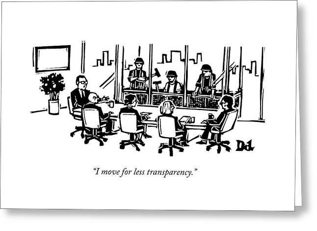 At A Corporate Board Meeting Greeting Card
