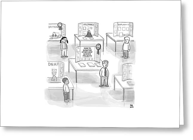 At A Science Fair Greeting Card by Paul Noth