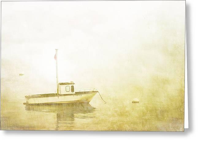 At Anchor Bar Harbor Maine Greeting Card by Carol Leigh