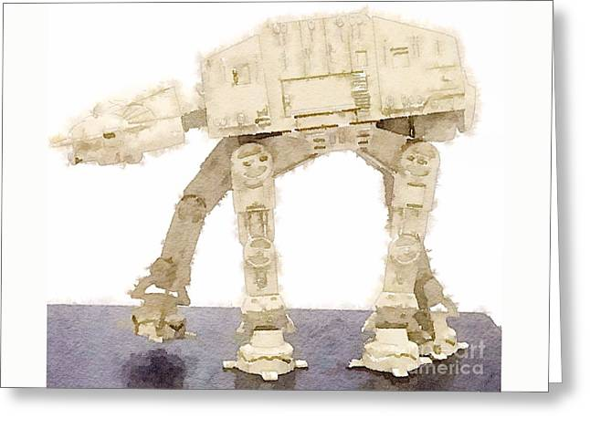 At-at All Terrain Armored Transport Greeting Card