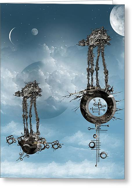 At-at Arrival Greeting Card by Andy Walsh