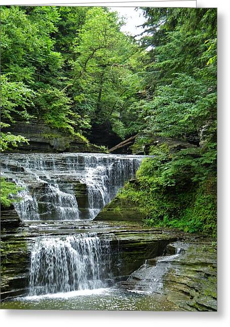 At Buttermilk Falls Greeting Card by Anthony Thomas