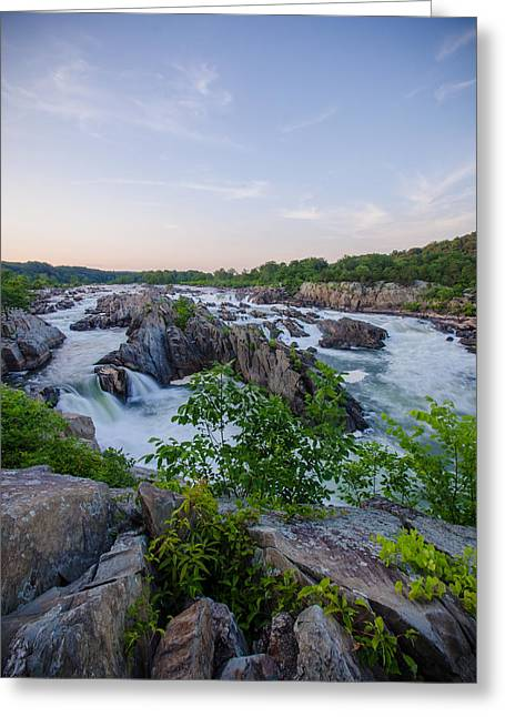 At Great Falls Greeting Card by Kristopher Schoenleber