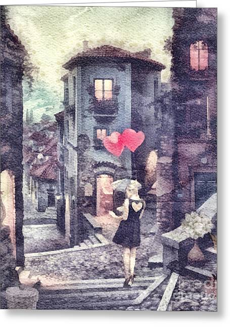 At Heart Greeting Card by Mo T