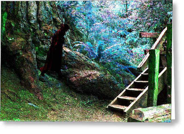 At Home In Her Forest Keep - Pacific Northwest Greeting Card