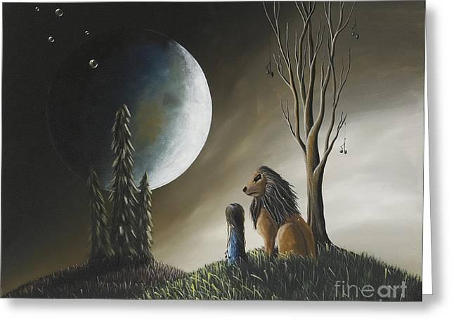At Midnight By Shawna Erback Greeting Card by Shawna Erback