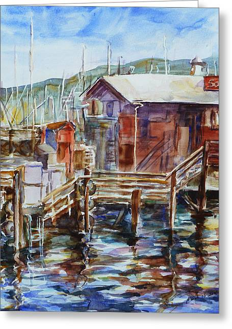 At Monterey Wharf Ca Greeting Card by Xueling Zou