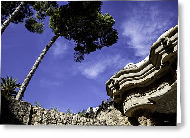 At Parc Guell In Barcelona - Spain Greeting Card by Madeline Ellis