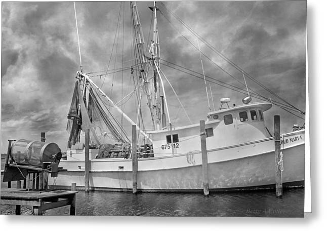 At Rest In The Harbor Greeting Card
