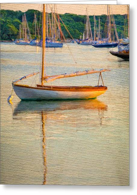 Sailboat Ocean Mixed Media Greeting Cards - At Rest Greeting Card by Michael Petrizzo