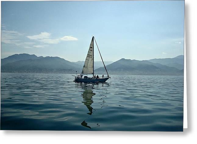 At Sea Greeting Card by Kathy Bucari
