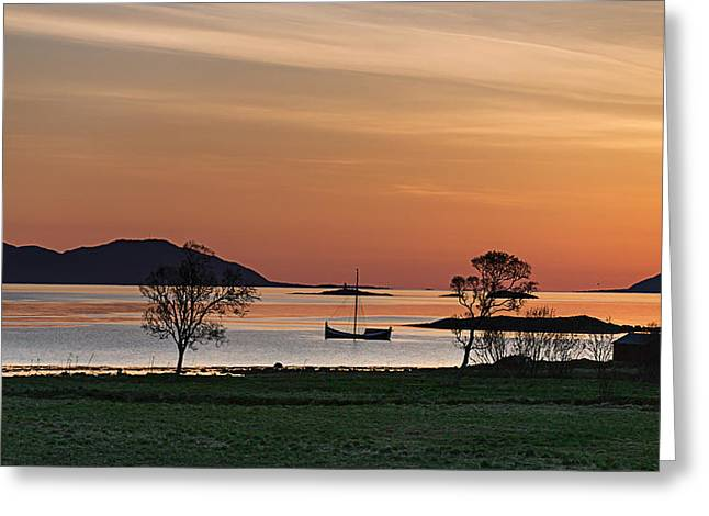 At Sunset Greeting Card by Frank Olsen