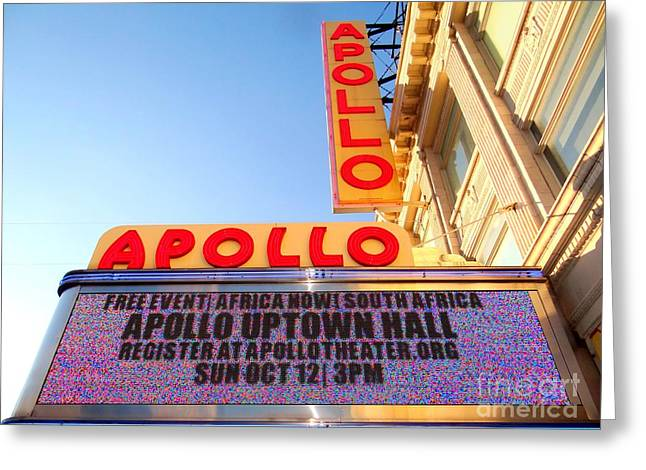 At The Apollo Greeting Card by Ed Weidman