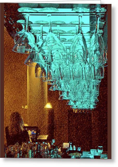 At The Bar Greeting Card by Ben and Raisa Gertsberg