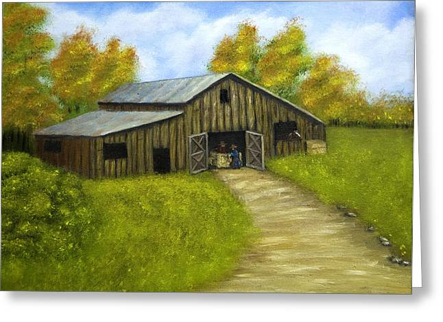 At The Barn Greeting Card