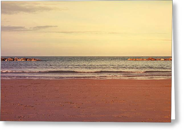 At The Beach Greeting Card by Andrea Mazzocchetti