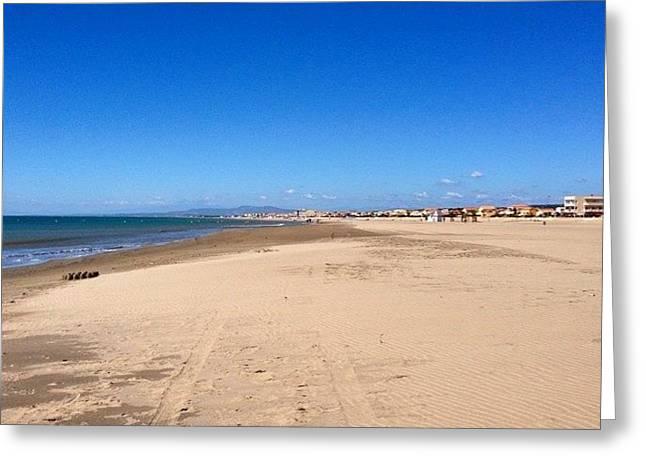 Beach And Blue Sky Greeting Card