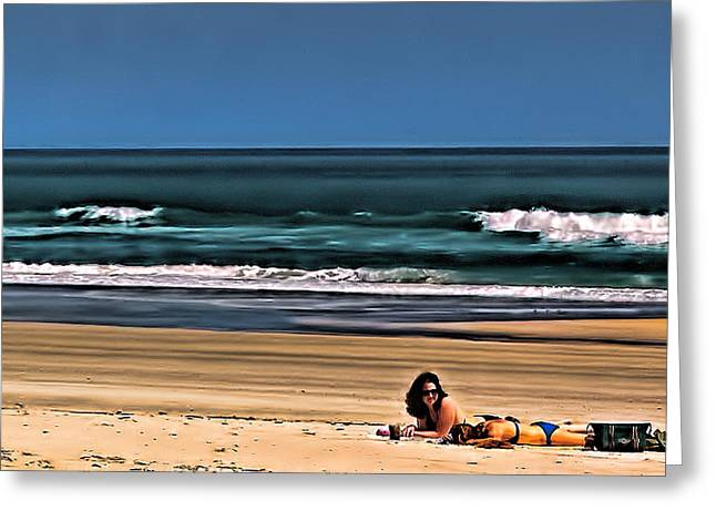 At The Beach Greeting Card by Dave Bosse