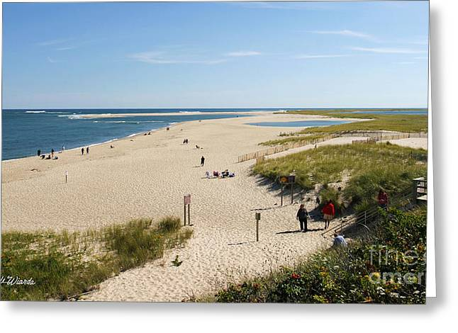At The Beach In Chatham Cape Cod Massachusetts Greeting Card by Michelle Wiarda