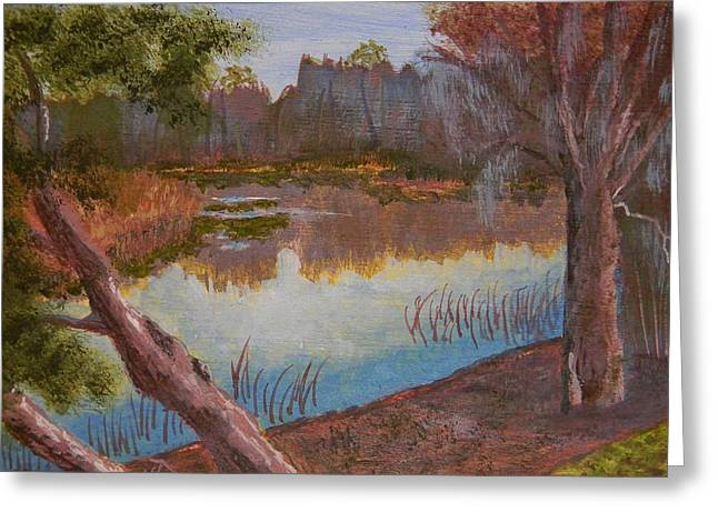 At The Bend On The Ocklawaha  Greeting Card by Warren Thompson