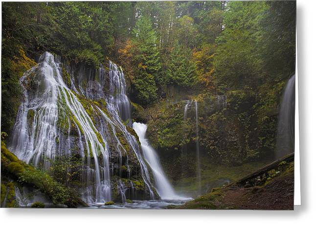 At The Bottom Of Panther Creek Falls Greeting Card by David Gn