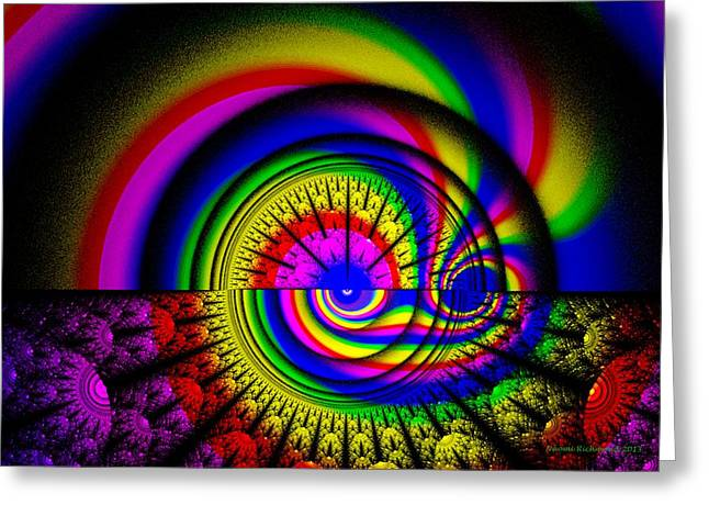 At The Center Of The Rainbow Greeting Card by Naomi Richmond