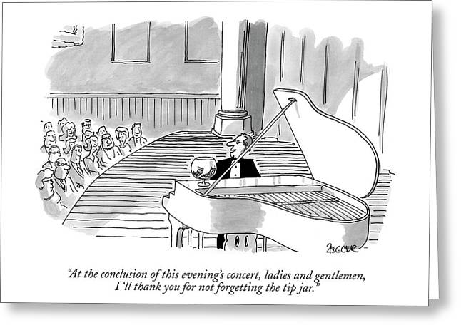 At The Conclusion Of This Evening's Concert Greeting Card