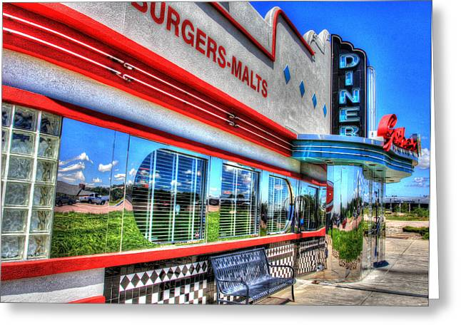 At The Diner 2 Greeting Card by Diane Alexander