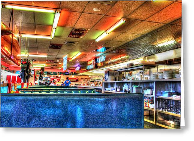 At The Diner 5 Greeting Card by Diane Alexander