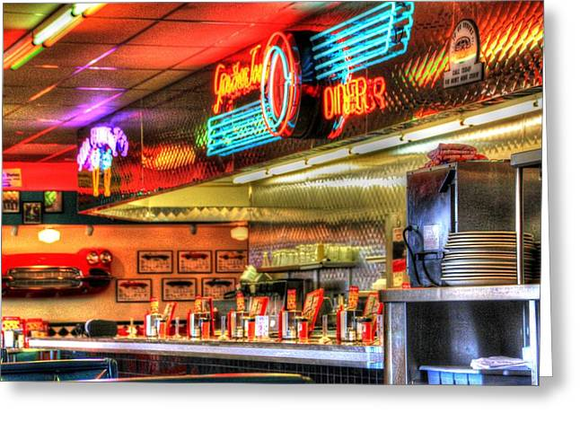 At The Diner 6 Greeting Card by Diane Alexander