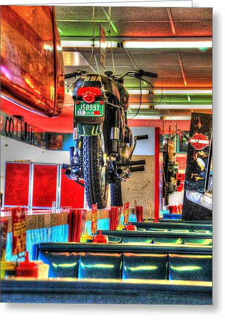 At The Diner 7 Greeting Card by Diane Alexander