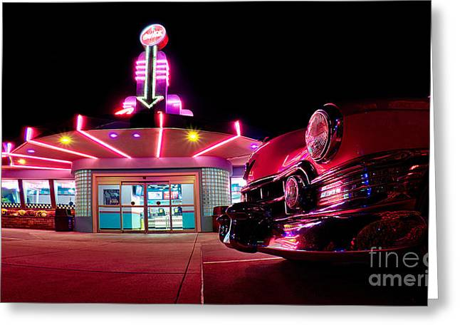 At The Drive-in Greeting Card by Mark Miller