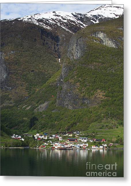 At The Edge Of The Fjord  Greeting Card by Anne Gilbert