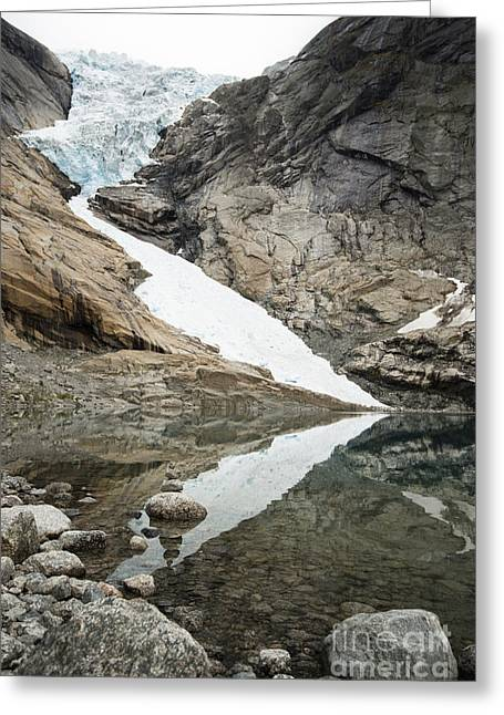 At The Edge Of The Glacier Greeting Card